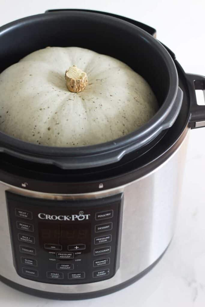 Whole pumpkin in instant pot/multi cooker