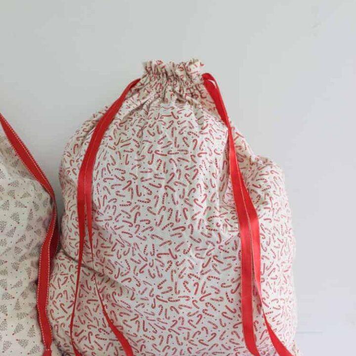 Full fabric Santa Sack