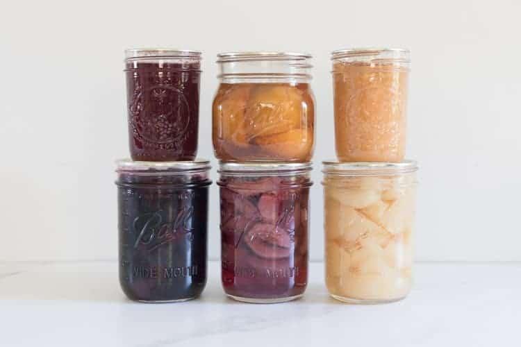 6 jars of bottled/canned food